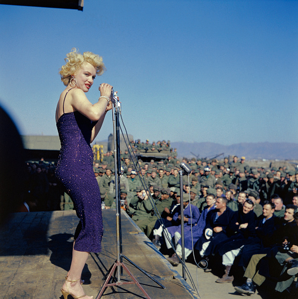 Marilyn Monroe Entertains Troops in Korea