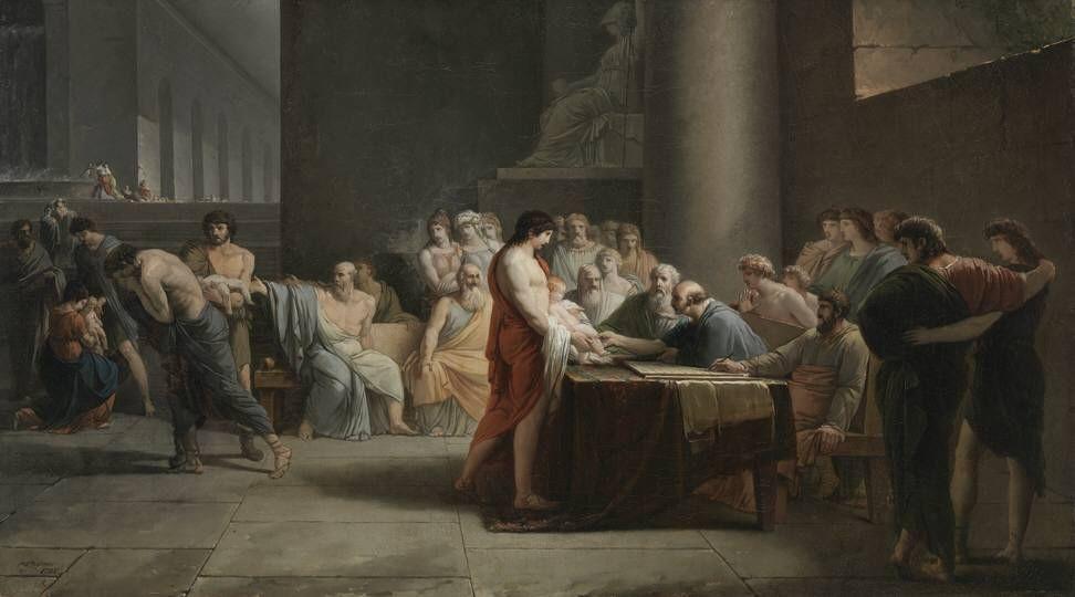 Jean-Pierre_Saint-Ours_-_Gericht_über_die_Neugeborenen_Spartas_-_2358_-_Bavarian_State_Painting_Collections
