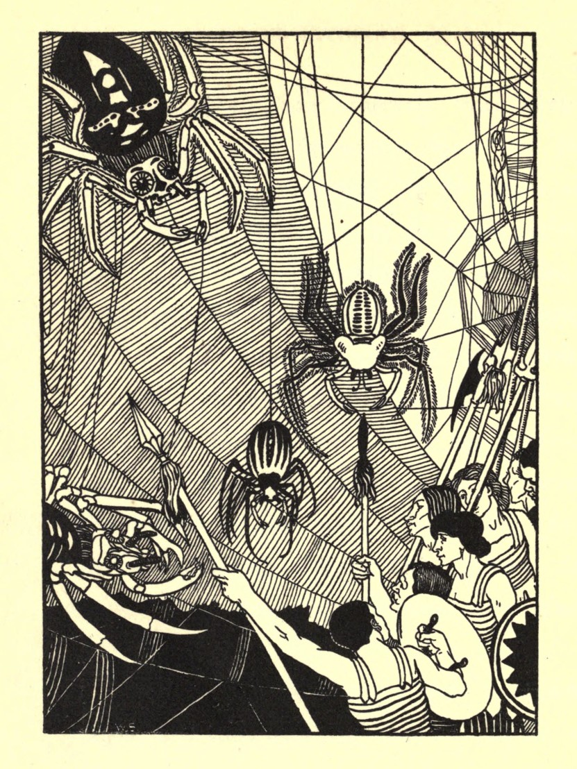 William_Strang_spider_battle_in_1894_True_History