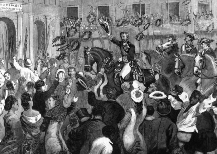 Entrada_triunfal_de_Arsenio_Martínez_Campos_en_La_Habana,_1878