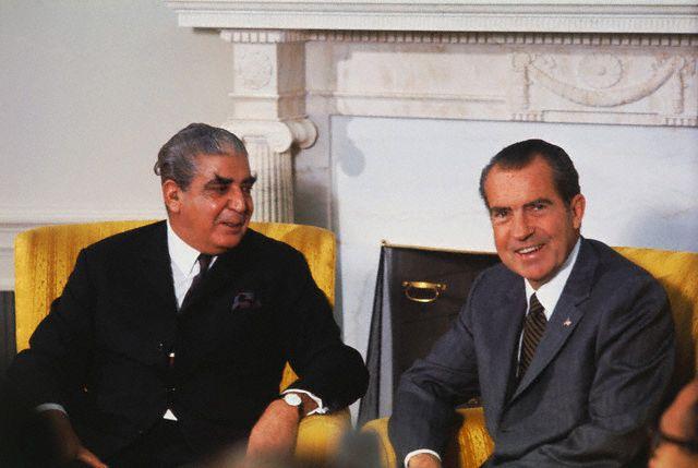 Richard Nixon Posing with Agha Yahya Khan