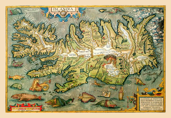 SPAIN - CIRCA 1602:  Map of Iceland  (Photo by Buyenlarge/Getty Images)