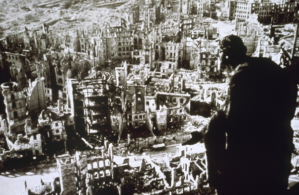 World War II, Dresden destroyed by bombing. (Photo by Prisma/UIG/Getty Images)