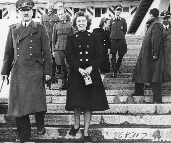 (Original Caption) Adolf Hitler with Eva Braun. Undated Photo.