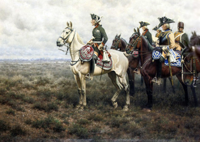 Frederick_the_Great_and_his_staff_at_the_Battle_of_Leuthen_by_Hugo_Ungewitter