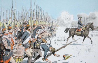 Prussian_infantry_advance_at_Leuthen