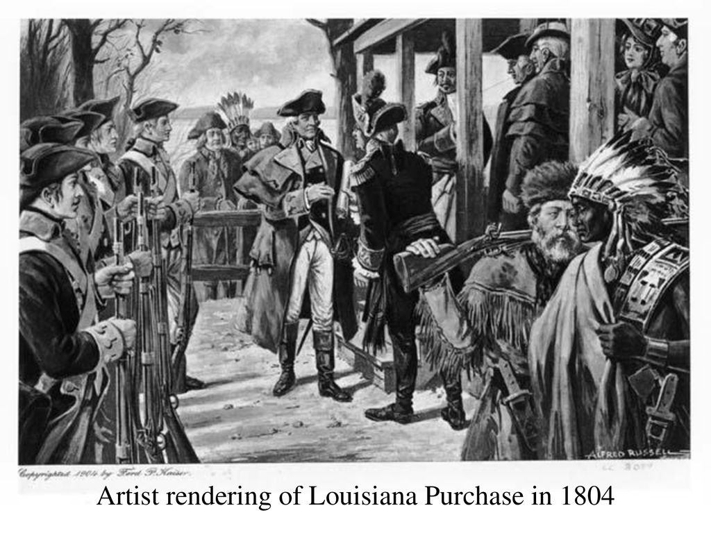 Artist rendering of Louisiana Purchase in 1804