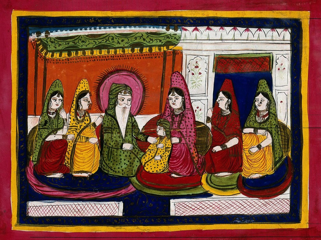 Maharaja_Ranjit_Singh_with_wives_Wellcome_V0045197