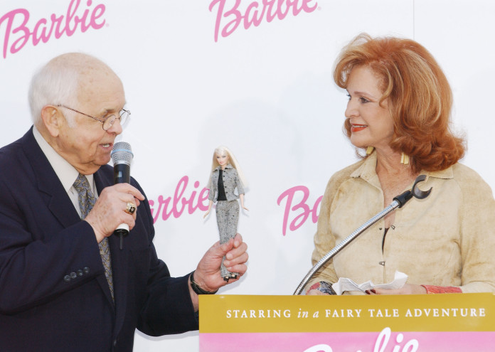 Barbie Honored with Hands And Footprints In Cement