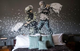 British Artist Banksy Opens Walled Off Hotel In Bethlehem