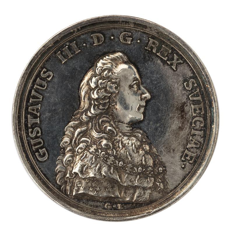 Framsida_av_medalj_med_bild_av_Gustav_III,_1777_-_Skoklosters_slott_-_99545.tif