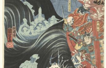 Yoshitsune_aangevallen_door_Taira_geesten-Rijksmuseum_RP-P-1979-177