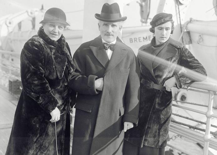 Arturo Toscanini Posing with Family