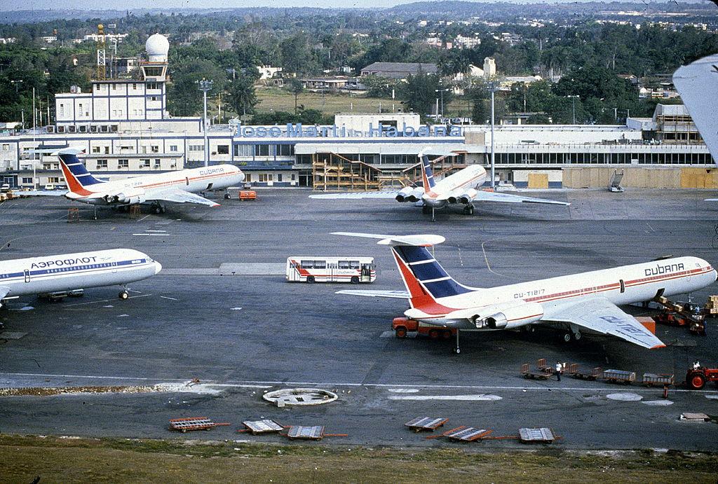 Airport Jose Marti of Havana (Cuba). On 1988. FDM-