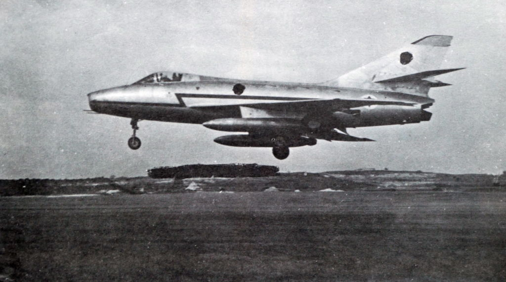Super Mystere 2B of the Israel Air Force in action during the 1967, Six Day War.