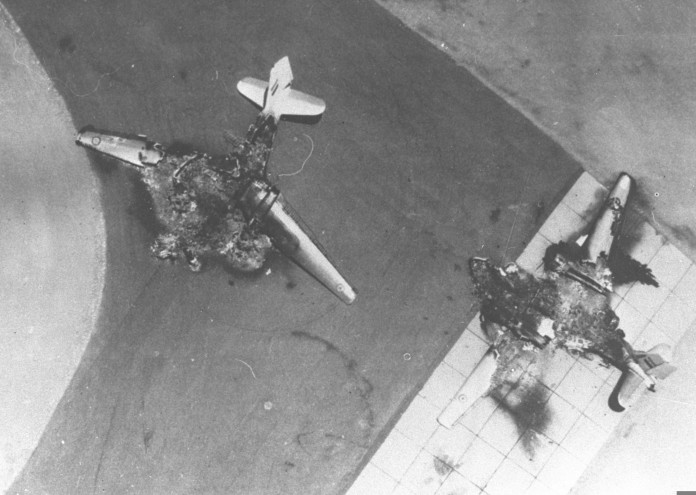 Six_Day_War._Egyptian_air_force_base_attacked._Egyptian_planes_destroyed_on_the_ground._June_1967._D326-011