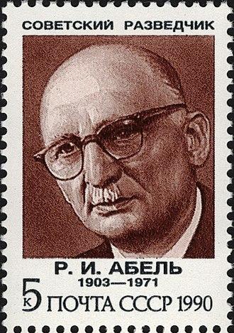 The_Soviet_Union_1990_CPA_6265_stamp_(Soviet_Intelligence_Agents._Rudolf_Abel)