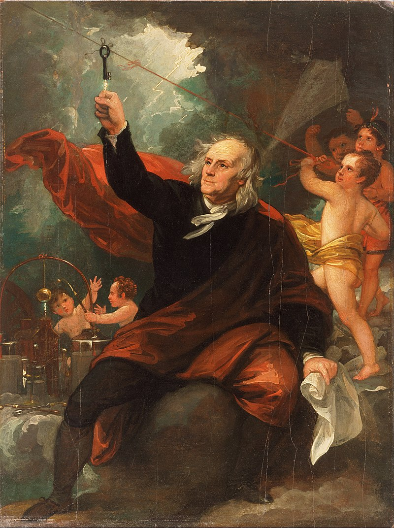 800px-Benjamin_West,_English_(born_America)_-_Benjamin_Franklin_Drawing_Electricity_from_the_Sky_-_Google_Art_Project