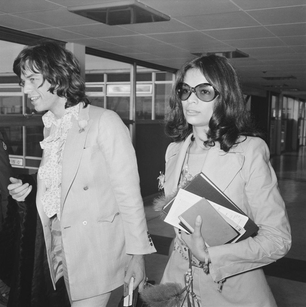 Mick Jagger And Bianca Macias At Heathrow Airport