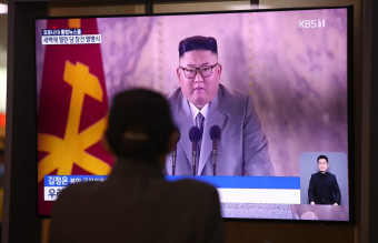 South Koreans Look On As North Korea Celebrates 75th Anniversary Of Worker's Party