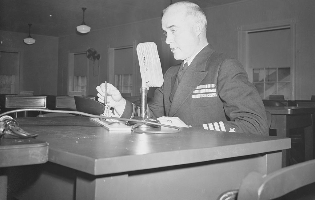 Captain Charles McVay Testifying at Court Martial Trial