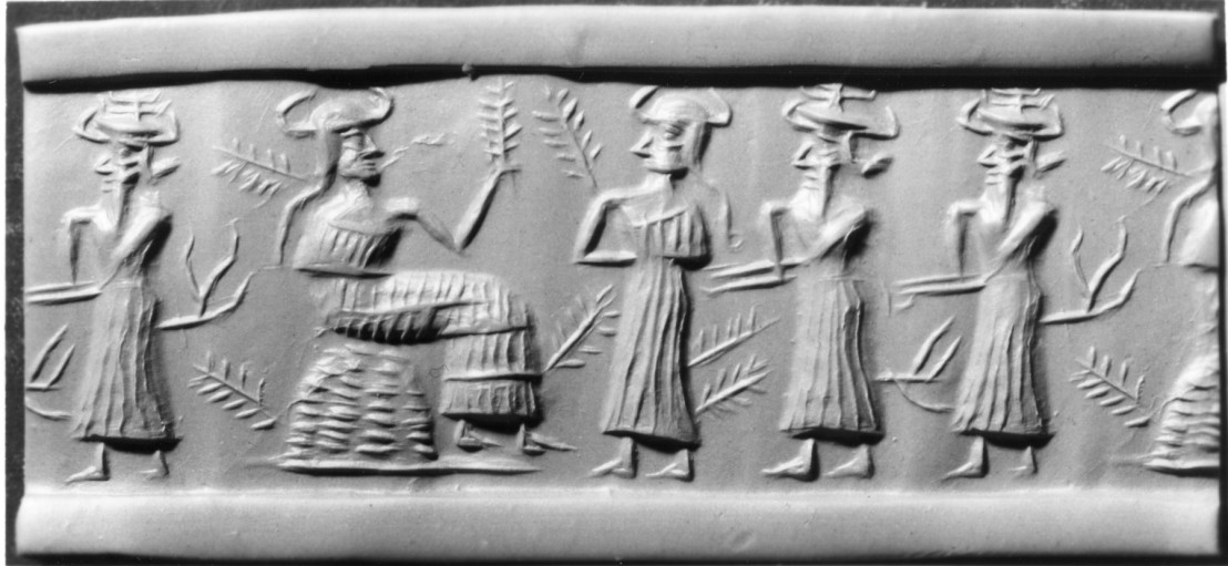 Mesopotamian_-_Cylinder_Seal_-_Walters_42564_-_Impression