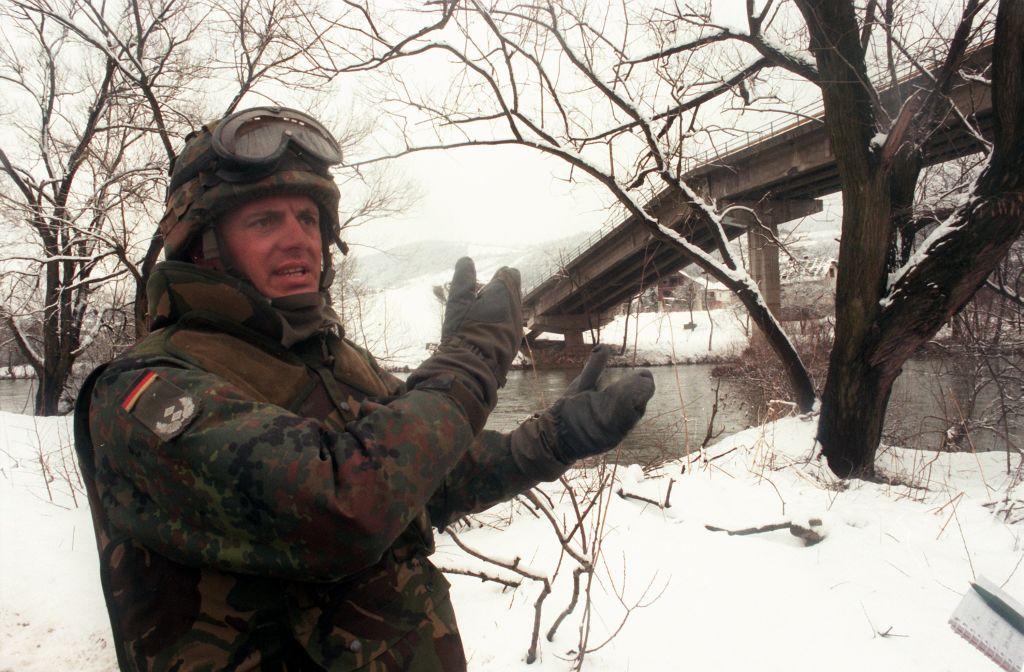 Deutsches Ifor-Kontingent auf Erkundungsfahrt in Bosnien