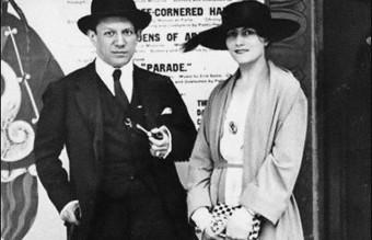 Pablo Picasso and Olga Khokhlova. Artist: Anonymous