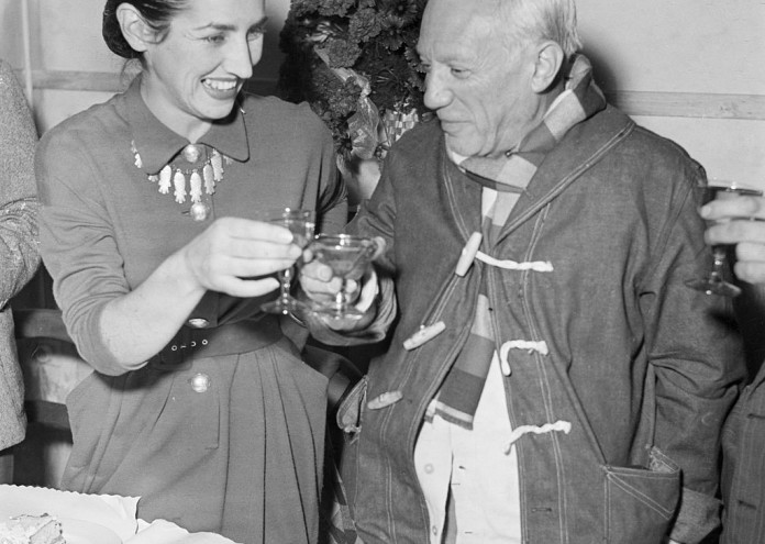 Pablo Picasso and Francoise Gilot Toast