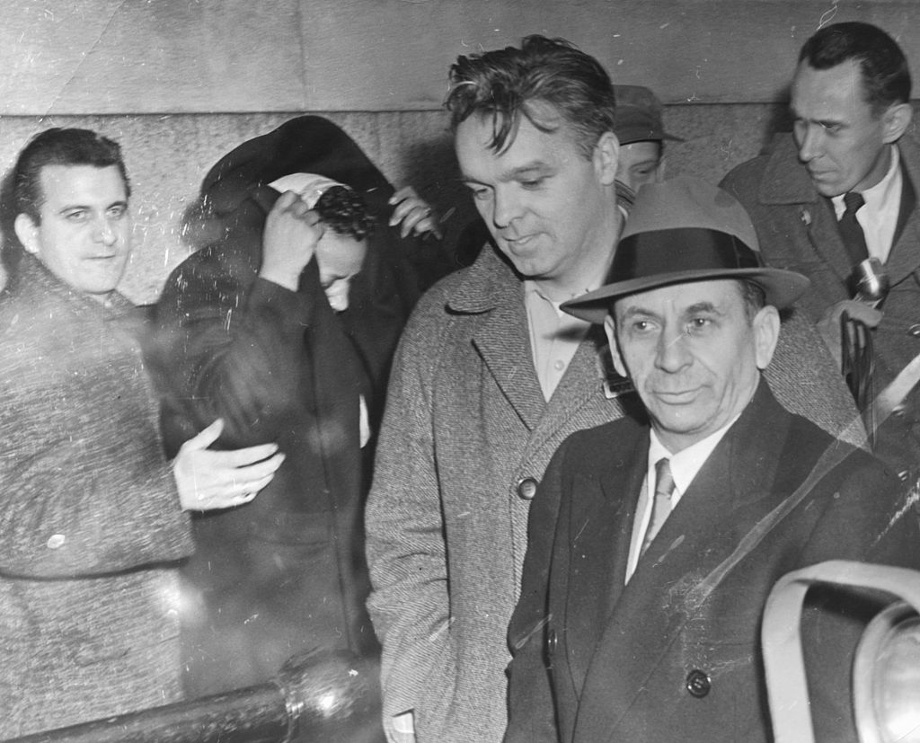 Meyer Lansky in Hat with Others