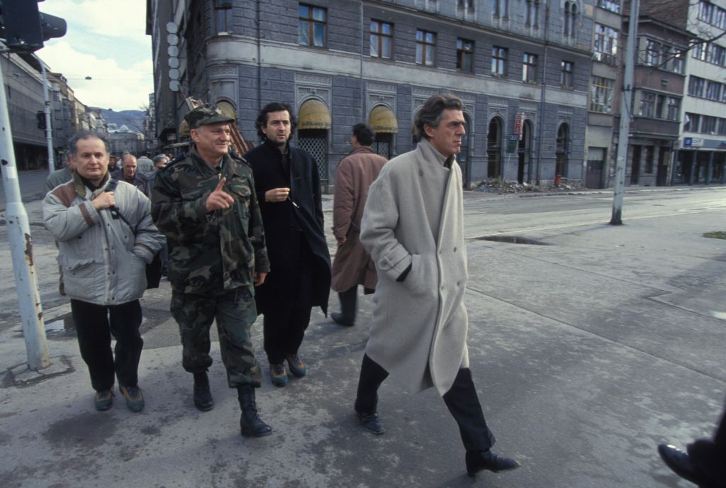 Tournage De Bosna Realise Par Bernard-Henri Levy