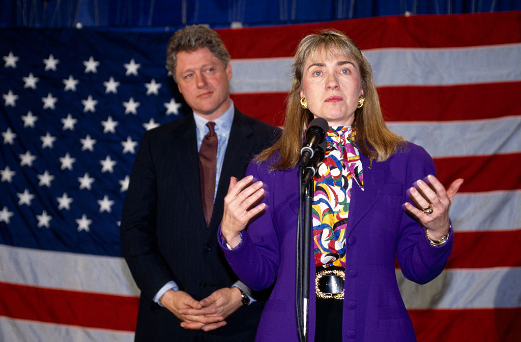 Democratic Candidate Bill Clinton and Wife Hillary During Presidential Campaign